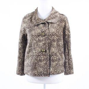 Talbots brown cotton 3/4 sleeve jacket 2P